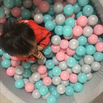 Environmental protection and thickening millions of ocean wave ball wholesale grey black white horse Caron children playground ball
