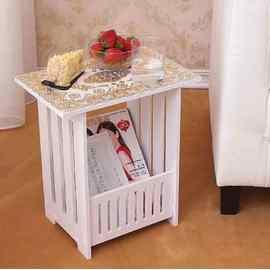 簡約方形小茶幾客廳多層茶幾桌小方桌木塑板咖啡桌沙發床頭小桌子
