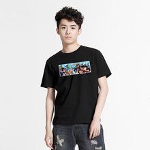 LVAIREN 七龙珠T恤 chic情侣款短袖衣服男 动漫修身黑色白色夏装