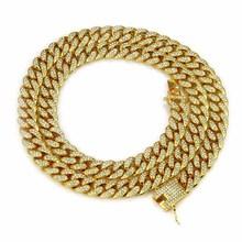 跨境热卖欧美Hiphop迈阿密古巴链 男士嘻哈镶钻大金链项链批发