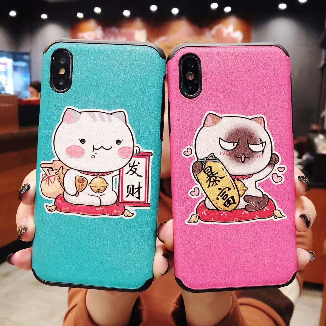 One night rich for iphoneXS MAX mobile phone shell Apple X New Year 8plus Lucky Cat 7p soft shell 6s