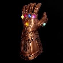 复仇联盟者灭面具霸cospla万圣节面具侠无限儿童手套发光钢铁手套