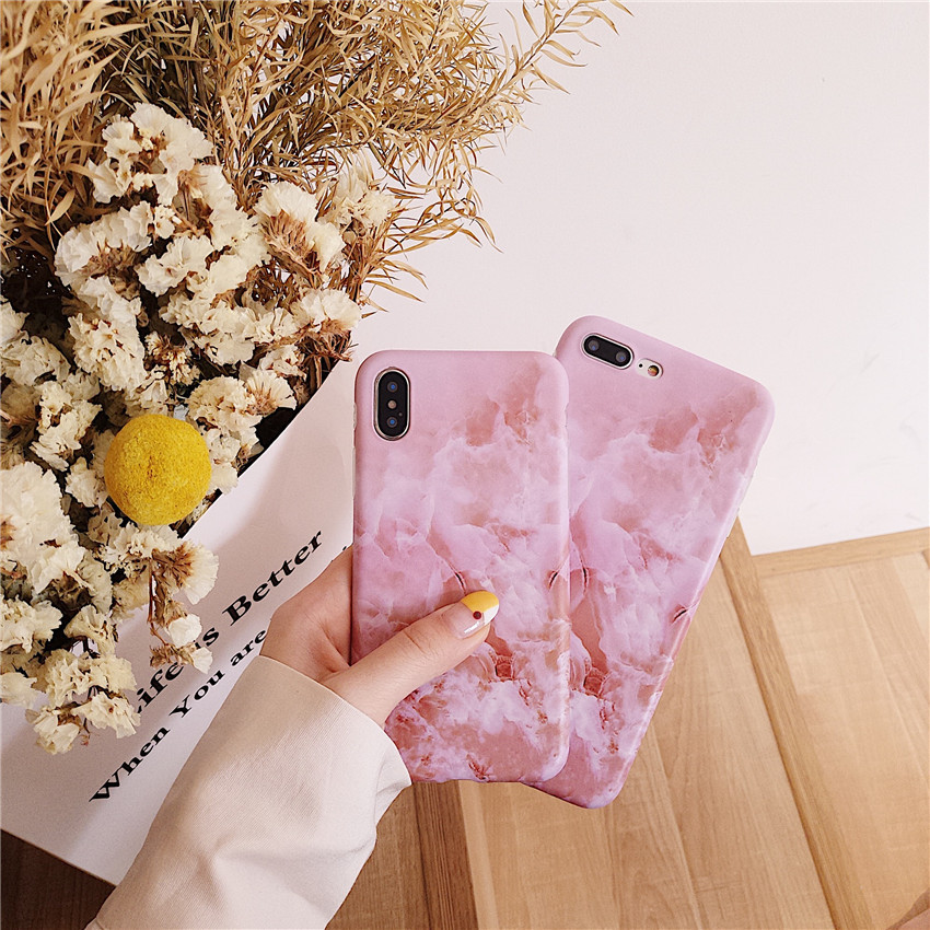 Applicable to South Korea ins with the same paragraph smoke marble iphoneX creative Apple mobile phone shell matte IMD protective cover