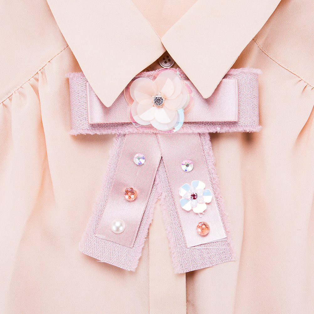 Alloy Fashion Bows brooch  (Pink) NHJE0998-Pink