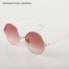 2018新款韓版明星款時尚個性鈦合金女士太陽鏡 潮牌金屬墨鏡 包裝