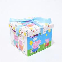 小豬4寸烘培甜點芝士蛋糕盒禮品店裝飾盒打包盒生日派對外賣盒