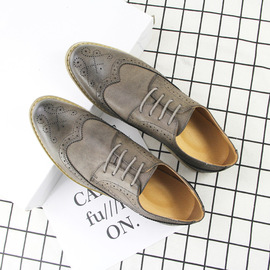 Summer breathable leather shoes men's Brock business dress youth wild fashion men's shoes