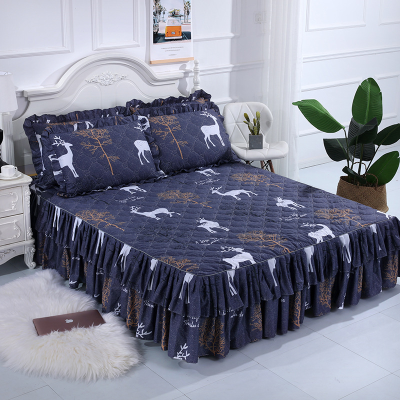 Manufacturer wholesale price thickened cotton bed skirt single simmons cotton bedspread lace bedspread mattress cover