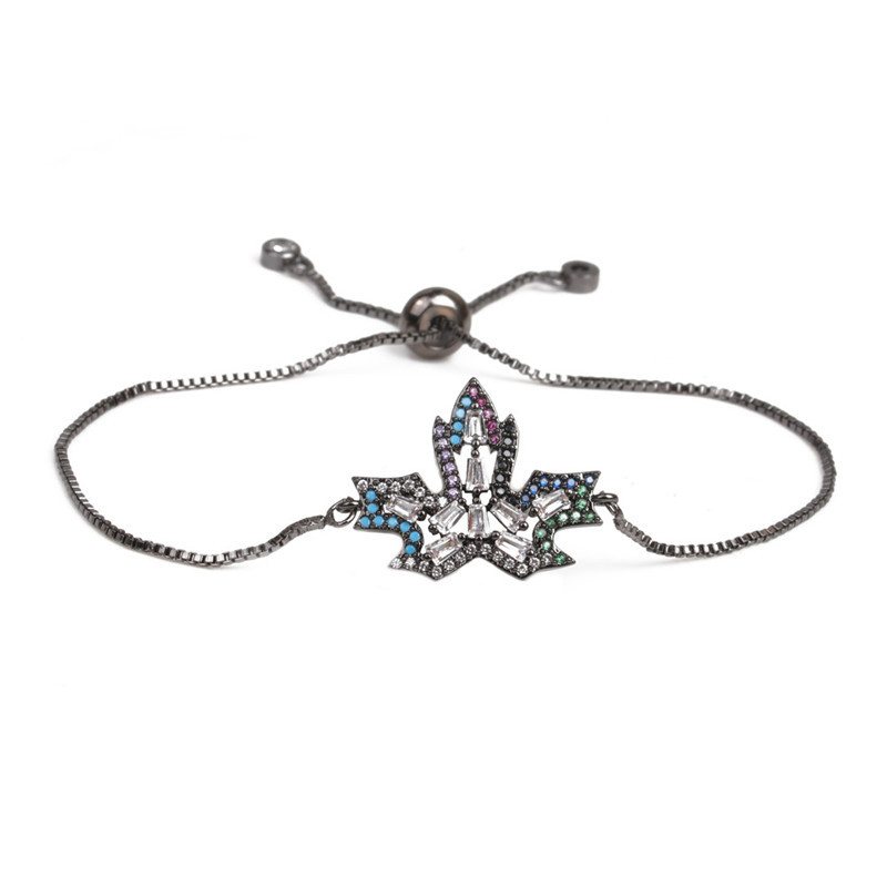 Copper Fashion Flowers bracelet  (Alloy) NHYL0390-Alloy