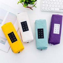 青涩年代韩版学生简约文字笔袋 大容量创意帆布铅笔盒文具盒定制
