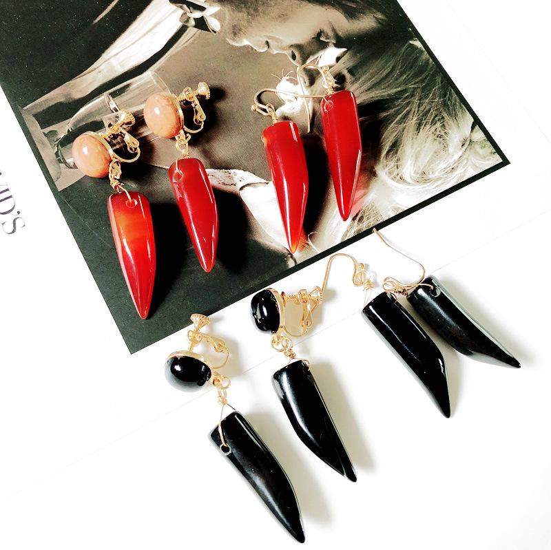 Alloy Fashion  earring  Red earrings NHOM1029Redearrings