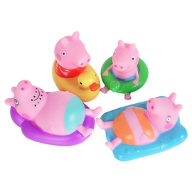 Authentic authorized pig Peggy baby baby bathroom bath water play pinch called water spray set toy