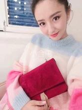 IT30周年彩虹粉色条纹马海毛 冰淇淋毛衣唐嫣佟丽娅同款