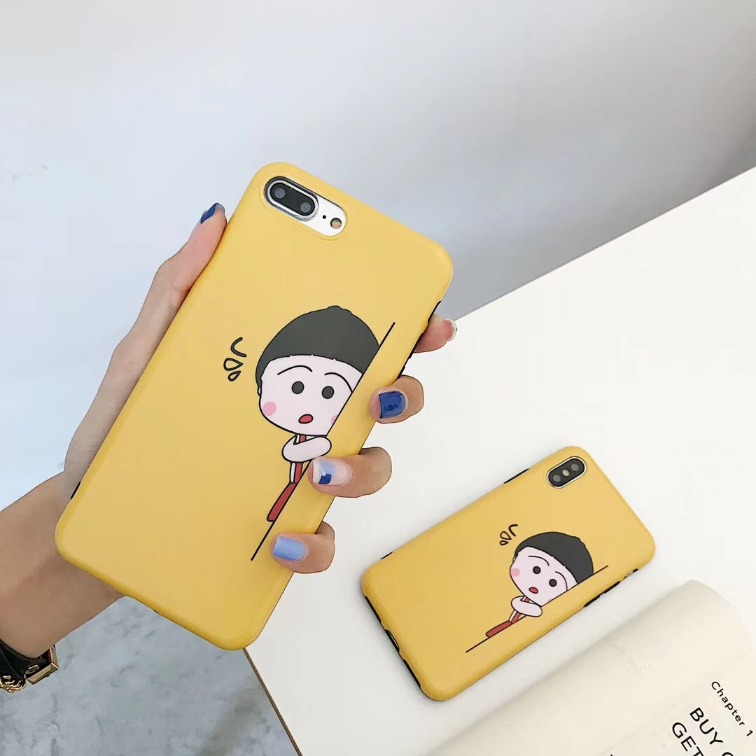 Apple x mobile phone shell cartoon cute small ball iphone8plus yellow 7P silicone all-inclusive 6S girl soft heart