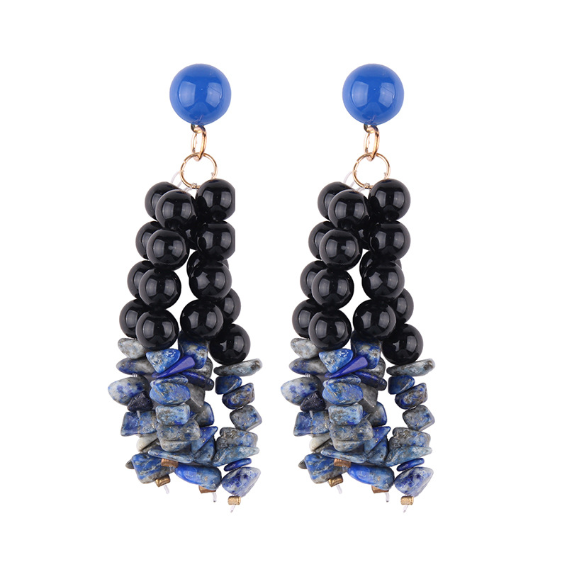 Plastic Fashion  earring  (Color one) NHJQ10644-Color-one