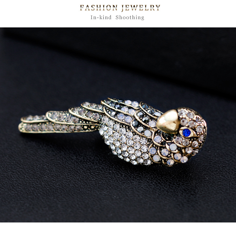 Alloy Vintage Animal brooch(AG144-A) NHDR2454-AG144-A