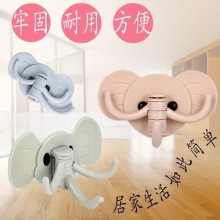 Elephant self-adhesive hook kitchen creative cute little elephant multifunctional hook nail-free hook at the bathroom door
