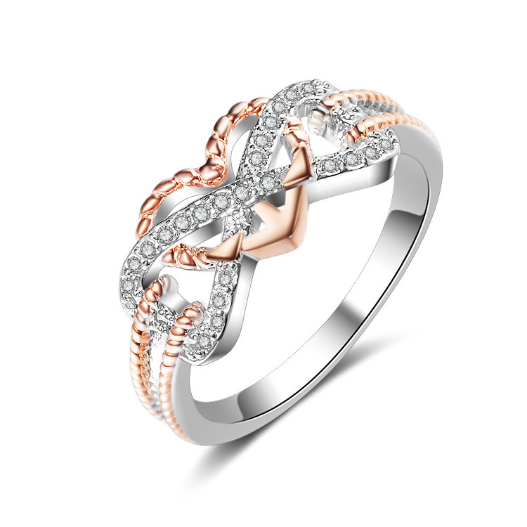 Copper Fashion Sweetheart Ring(Distribution Rose Gold-6) NHQL0093-Distribution-Rose-Gold-6