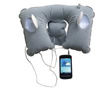 U形帶小音箱音樂子母旅行枕 植絨PVC充氣音樂枕 休閑枕 駕駛枕