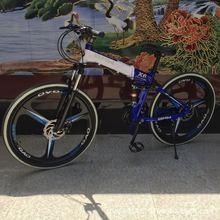 促销BM0W折叠X6一体轮山地变速自行车21速26寸出口车可定制品牌