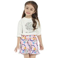 欧美童装 夏季中小童裤印花涂鸦儿童裤子休闲女童短裤一件代发