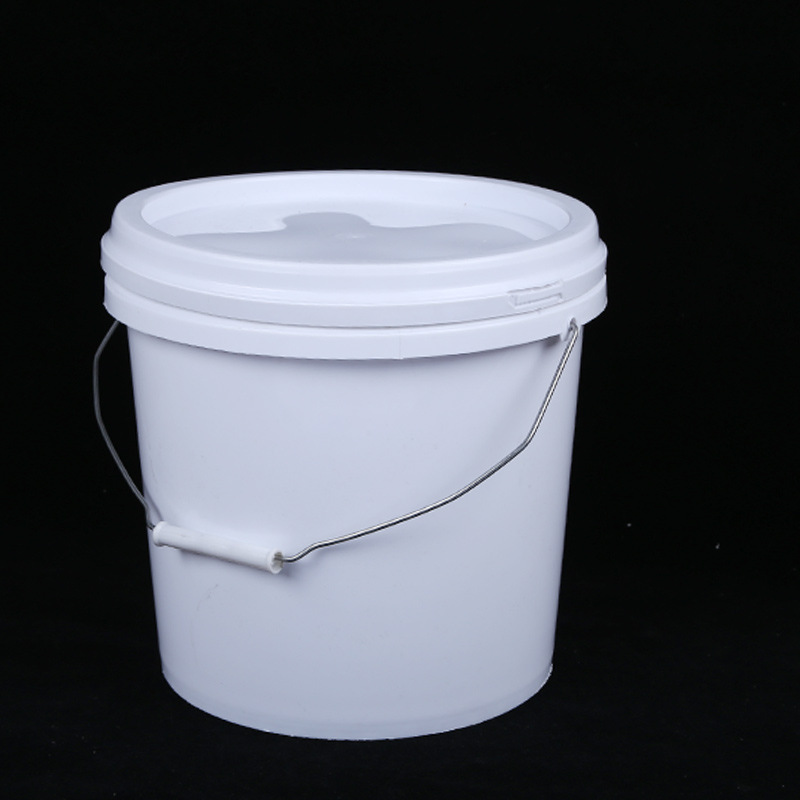 厂家批发8升塑料包装圆桶食品级白色密封化工桶乳胶油墨涂料桶