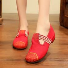 (Phụ nữ) Các mẫu mùa xuân và mùa hè, sản phẩm mới, thanh lịch, phong cách quốc gia cao, thêu đơn nữ, giày đơn nữ Giày nữ