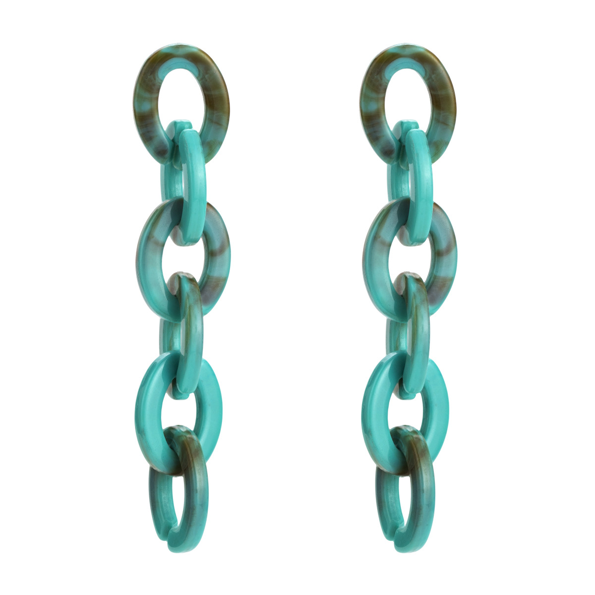 Alloy Fashion Geometric earring  (green) NHJE1829-green