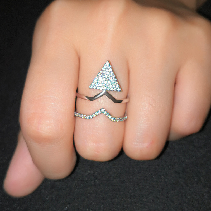 Copper Fashion Geometric Ring  (Alloy-7)  Fine Jewelry NHAS0395-Alloy-7