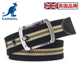 KANGOL canvas belt men's belt wild simple hipster young students young people pin buckle belt