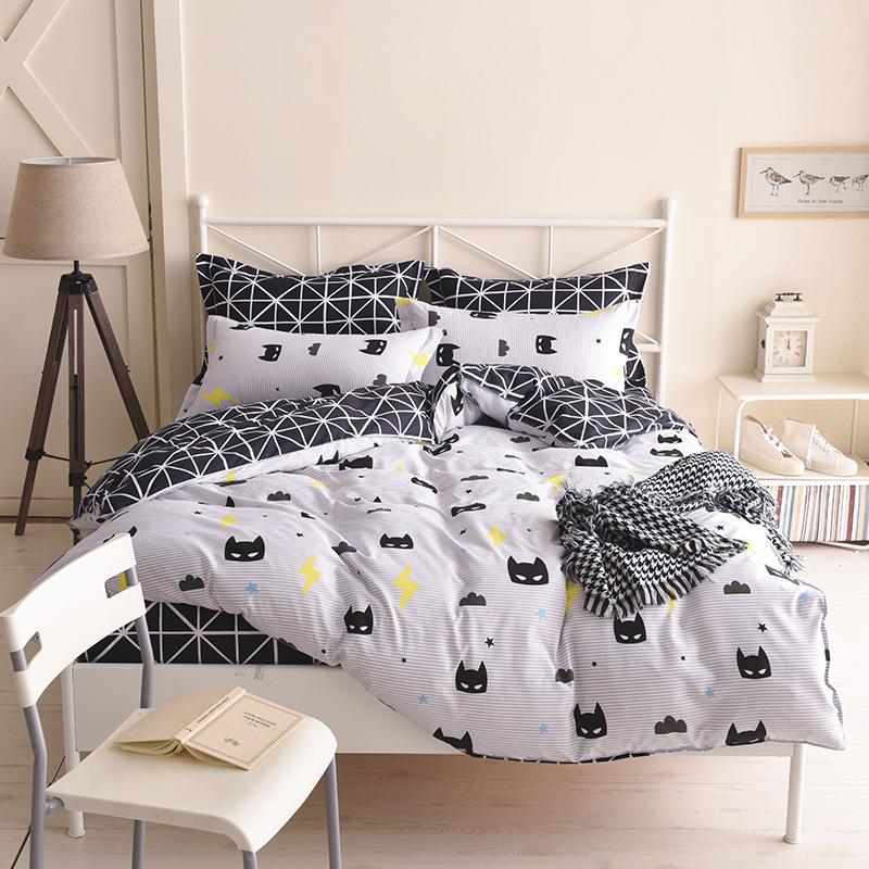 EBAY WISH速卖通亚马逊跨境爆款时尚黑白被套枕套三件套床上用品