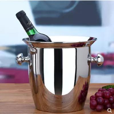 304不锈钢喇叭香槟桶加厚冰桶冰粒桶欧式葡萄红酒桶酒店酒吧KTV