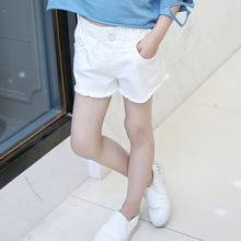 2018新款夏装儿童纯色纯棉百搭女童牛仔短裤 宝宝热裤童装