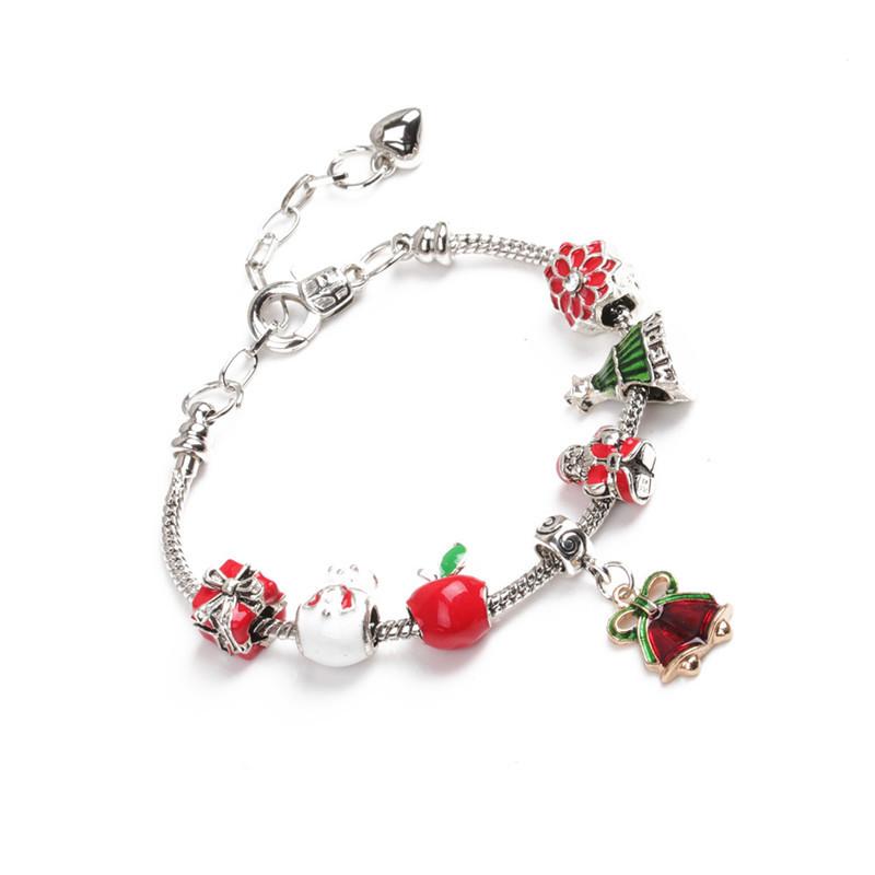 Imitated crystalCZ Fashion Geometric bracelet  Christmas tree NHYL0361Christmastree