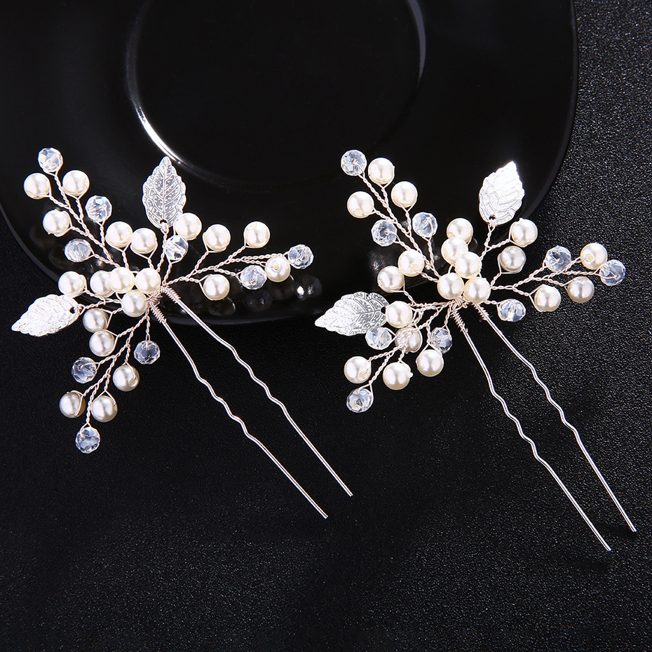 Beads Fashion Geometric Hair accessories  (Alloy) NHHS0343-Alloy