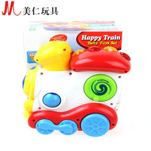 Hot happy locomotive electric light music train Children's educational science toy fast sale hot sale