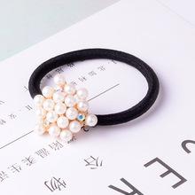 韩版镶钻发绳时尚百搭可爱发束卡通花朵蝴蝶结珍珠头饰厂家批发