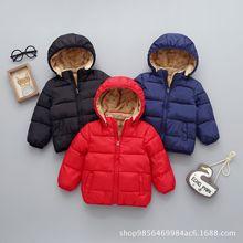 秋冬季儿童棉衣男童加厚羽绒棉服女童加绒宝宝保暖棉袄外套新品潮