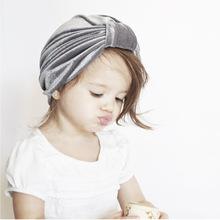 跨境专供金丝绒打结儿童印度帽男女宝宝胎帽婴儿帽子秋冬2018款