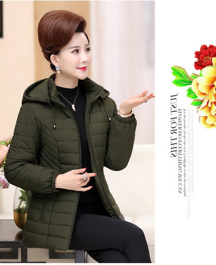 厂家直销新款羽绒棉衣女妈妈中长款修身韩版宽松加厚冬季保暖外套