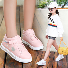 Children's sports shoes girls shoes new spring and autumn small white shoes in the big children's casual shoes student shoes