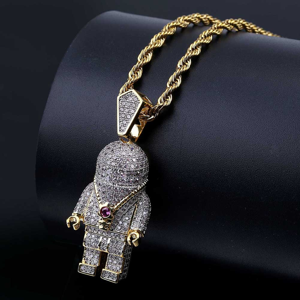 Wholesale Iced Out Pendant Hip Hop Jewelry Mens Bling Chain