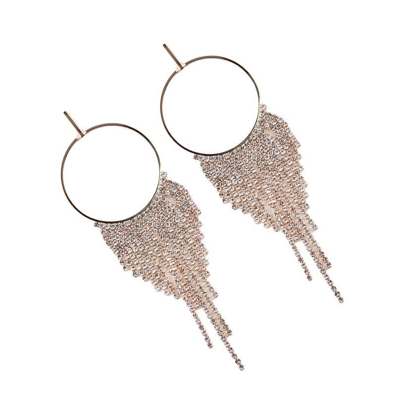 Alloy Fashion Geometric earring(Golden) NHJQ10124-Golden