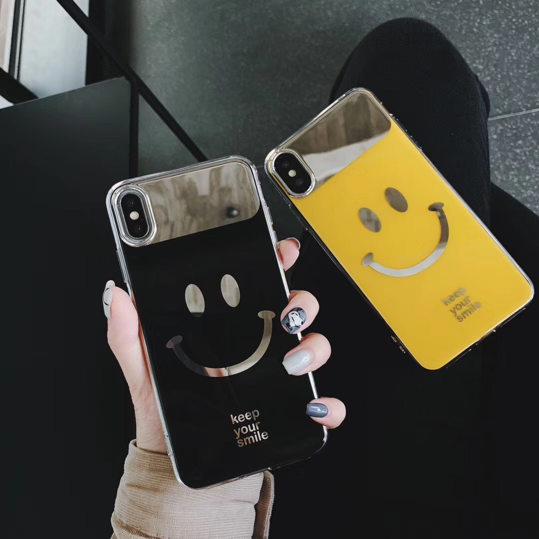 Korean style simple personality NICE smiley face X apple 8p mobile phone shell iPhone6plus original frosted couple