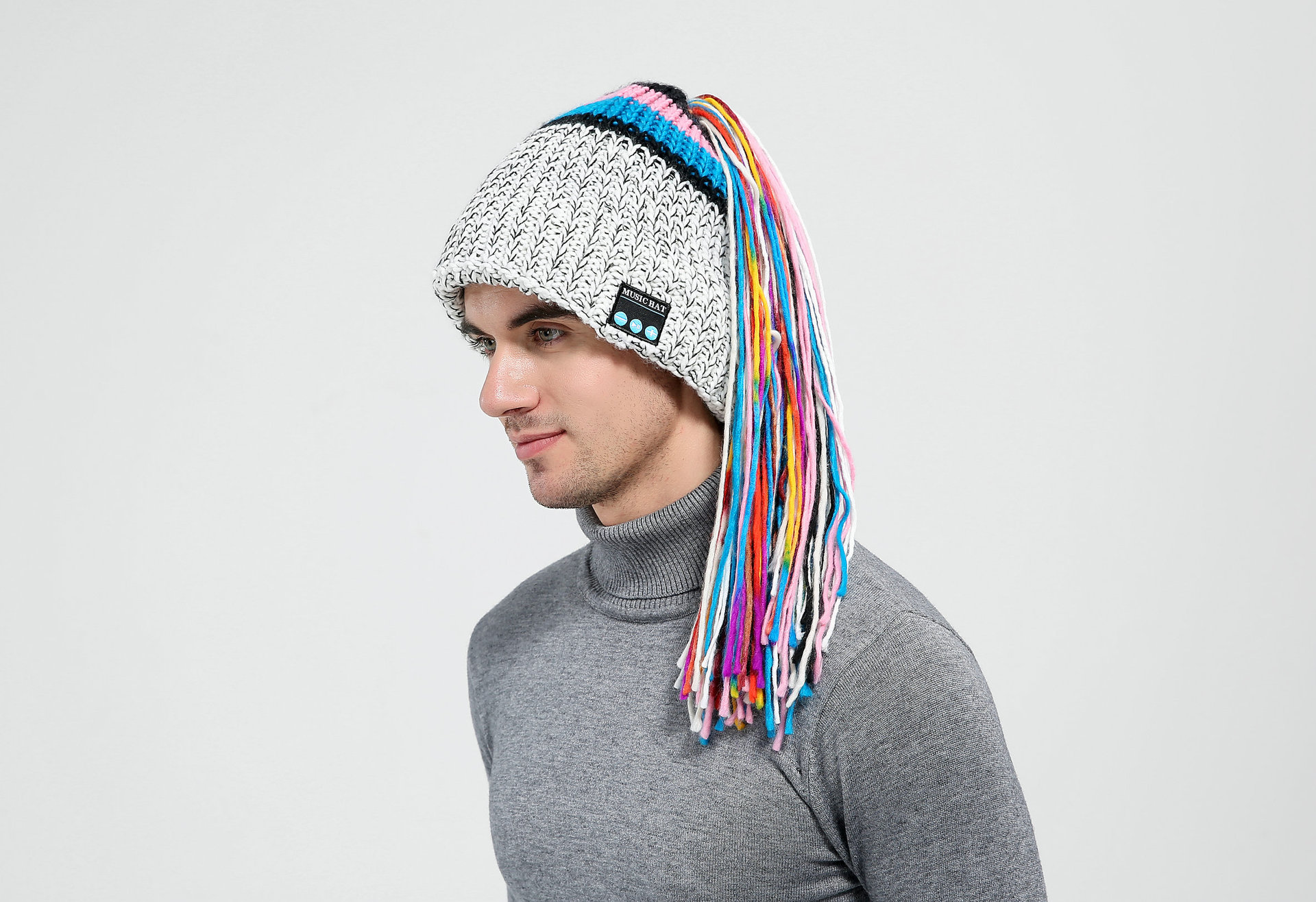 Clothing - Chic Winter Warm Knit Bluetooth Beanie with Wireless Headphone Headset for Outdoor Sport