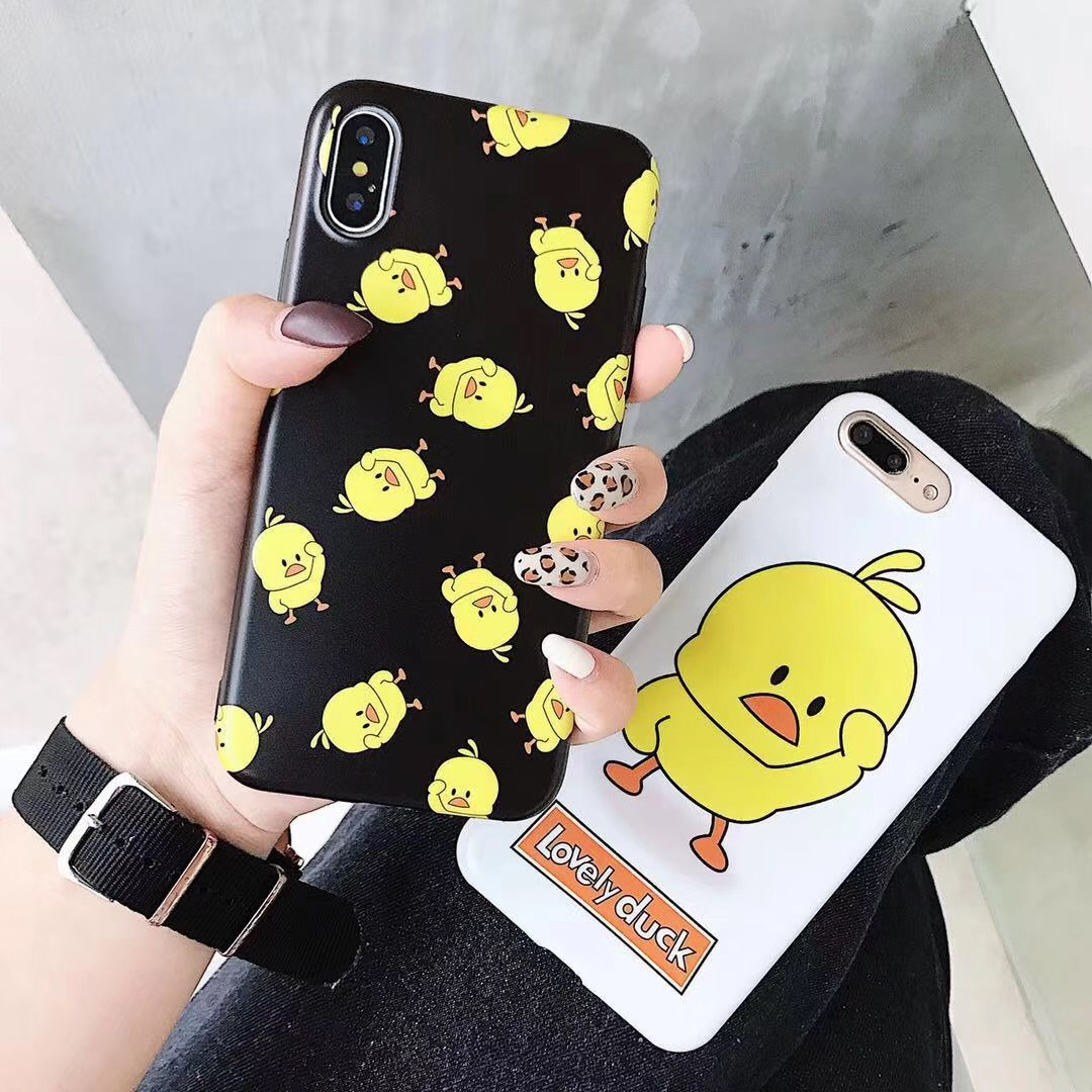 Applicable iPhone6splus dancing vibrato small yellow duck mobile phone shell 7plus apple 8 silicone soft cover XS max