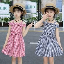 童裝兒童裙子2019夏季新款韓版女童一字肩連衣裙中大童洋氣公主裙