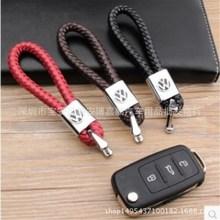 創意鑰匙扣批發 純手工編織皮繩鑰匙扣 情侶汽車鑰匙扣掛件小禮品