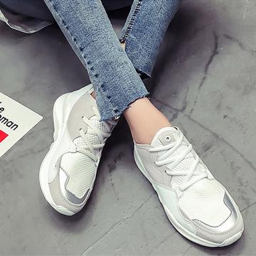 2018 mùa hè phong cách mới ins siêu giày lửa lưới giày nữ cũ mùa hè trắng giày thể thao giản dị