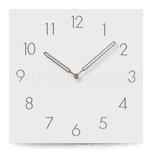 木质挂钟简单现代设计北欧时钟卧室广场木挂壁表壁钟家庭装饰静
